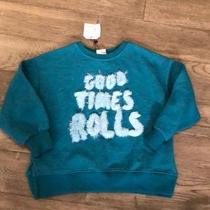 Girls Zara NWT sweatshirt, size 7